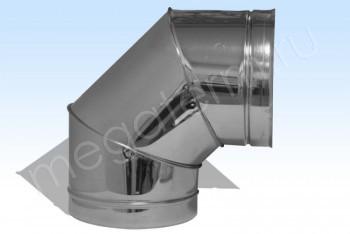 Отвод Моно 90*, d 130 Оцинков. Сталь (t=0.5) (Огнерус) - Производство и продажа полипропиленовых труб «МегаТерм»