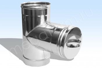 Ревизия Моно (Т90*+Загл).d 250 L=430 Нж.Ст. (t=0.8) (Огнерус) - Производство и продажа полипропиленовых труб «МегаТерм»