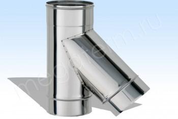 Тройник Моно 45*, d 120, L=350 Нержав. Ст. (t=1,0) (Огнерус) - Производство и продажа полипропиленовых труб «МегаТерм»