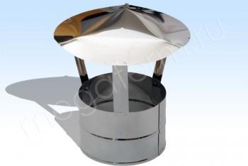 Зонт Моно d 200 (Колпак 350) L=250. Нж.Ст. (t=0,8) (Огнерус) - Производство и продажа полипропиленовых труб «МегаТерм»