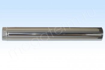 Труба Моно d 130, L=1000 мм. Нержав.Сталь.(t=1,0) (Огнерус) - Производство и продажа полипропиленовых труб «МегаТерм»
