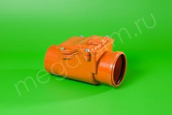 Канализация Клапан Обратный ПП 110, имп. рыжий - Производство и продажа полипропиленовых труб «МегаТерм»