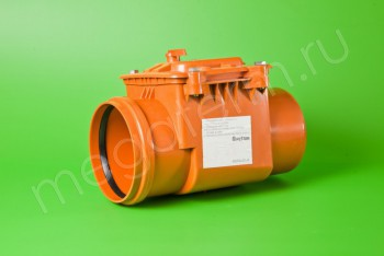 Канализация Клапан Обратный ПП 160, рыжий - Производство и продажа полипропиленовых труб «МегаТерм»