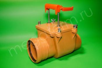 Канализация Клапан Обратный ПП 110, Россия рыжий - Производство и продажа полипропиленовых труб «МегаТерм»