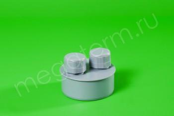 Канализация Клапан вакуумный (аэратор) ПП 110, серый - Производство и продажа полипропиленовых труб «МегаТерм»