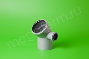 Канализация Отвод-Тройник 110-50х45* Правый, серый - Производство и продажа полипропиленовых труб «МегаТерм»