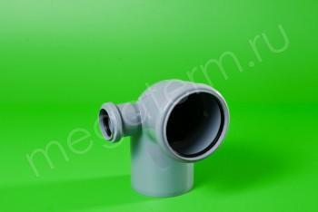 Канализация Отвод-Тройник 110-50х90* Левый, серый - Производство и продажа полипропиленовых труб «МегаТерм»