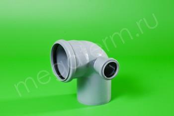 Канализация Отвод-Тройник 110-50х90* Правый, серый - Производство и продажа полипропиленовых труб «МегаТерм»