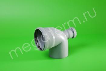 Канализация Отвод-Тройник 110-50х90* Фронтальный, серый - Производство и продажа полипропиленовых труб «МегаТерм»