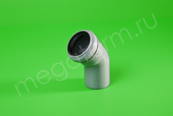 Канализация Отвод  50 х 45*, серый - Производство и продажа полипропиленовых труб «МегаТерм»