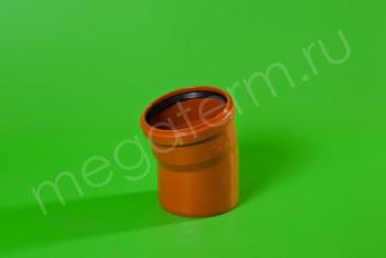 Канализация Отвод 110 х 15*, Наружный рыжий - Производство и продажа полипропиленовых труб «МегаТерм»