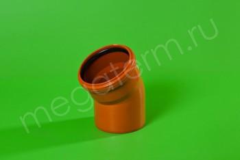 Канализация Отвод 110 х 30* Наружный рыжий - Производство и продажа полипропиленовых труб «МегаТерм»