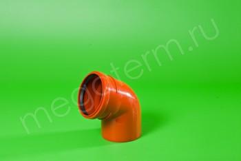 Канализация Отвод 110 х 67*, Наружный рыжий - Производство и продажа полипропиленовых труб «МегаТерм»