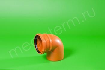 Канализация Отвод 110 х 90*, Наружный рыжий - Производство и продажа полипропиленовых труб «МегаТерм»