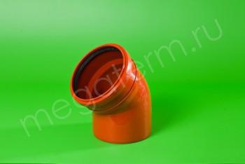 Канализация Отвод 160 х 45*, Наружный рыжий - Производство и продажа полипропиленовых труб «МегаТерм»