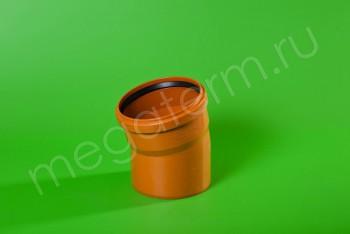Канализация Отвод 160 х 15*, Наружный рыжий - Производство и продажа полипропиленовых труб «МегаТерм»