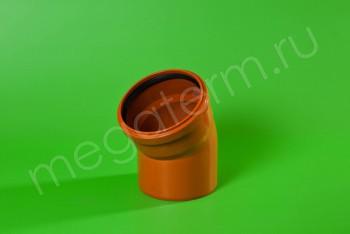 Канализация Отвод 160 х 30* Наружный рыжий - Производство и продажа полипропиленовых труб «МегаТерм»