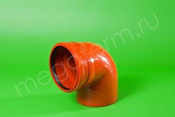 Канализация Отвод 160 х 90*, Наружный рыжий - Производство и продажа полипропиленовых труб «МегаТерм»