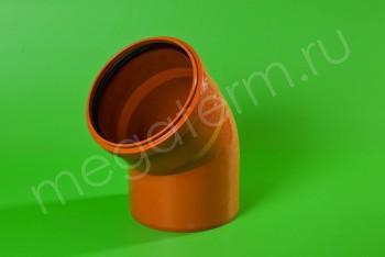 Канализация Отвод 200 х 45*, Наружный рыжий - Производство и продажа полипропиленовых труб «МегаТерм»