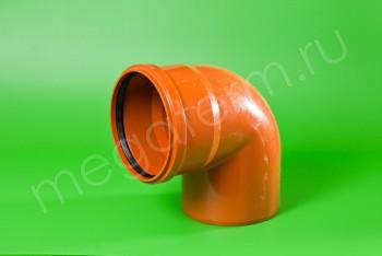 Канализация Отвод 200 х 90*, Наружный рыжий - Производство и продажа полипропиленовых труб «МегаТерм»