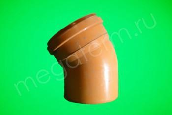 Канализация Отвод 315 х 30* Наружный рыжий - Производство и продажа полипропиленовых труб «МегаТерм»