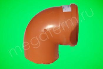 Канализация Отвод 500 х 90*, Наружный рыжий - Производство и продажа полипропиленовых труб «МегаТерм»