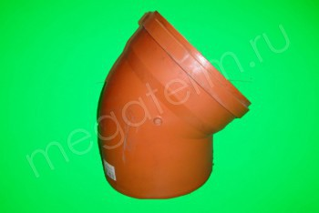 Канализация Отвод 400 х 45*, Наружный рыжий - Производство и продажа полипропиленовых труб «МегаТерм»