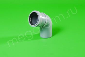 Канализация Отвод  50 х 67*, серый - Производство и продажа полипропиленовых труб «МегаТерм»