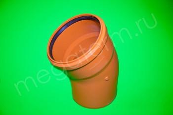 Канализация Отвод 200 х 30* Наружный рыжий - Производство и продажа полипропиленовых труб «МегаТерм»