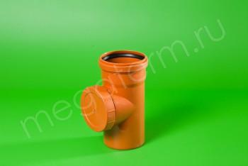 Канализация Ревизия 110, Наружная рыжая - Производство и продажа полипропиленовых труб «МегаТерм»