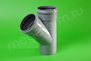 Канализация Тройник 110 -110 х 45*, серый - Производство и продажа полипропиленовых труб «МегаТерм»