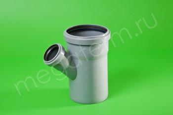 Канализация Тройник 110 - 50 х 45*, серый - Производство и продажа полипропиленовых труб «МегаТерм»