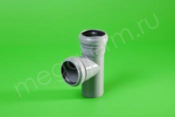 Канализация Тройник  50 - 50 х 90*, серый - Производство и продажа полипропиленовых труб «МегаТерм»