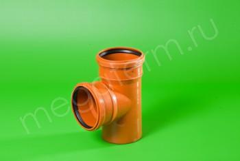 Канализация Тройник 110 -110 х 90*, Наружный рыжий - Производство и продажа полипропиленовых труб «МегаТерм»