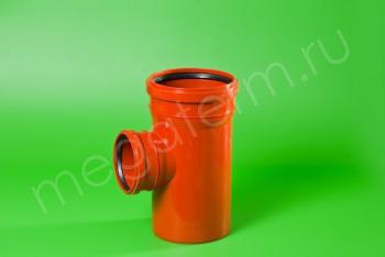 Канализация Тройник 160 -110 х 90*, Наружный рыжий - Производство и продажа полипропиленовых труб «МегаТерм»