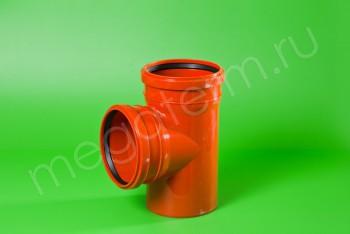 Канализация Тройник 160 -160 х 90*, Наружный рыжий - Производство и продажа полипропиленовых труб «МегаТерм»