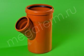 Канализация Тройник 200 -110 х 45*, Наружный рыжий - Производство и продажа полипропиленовых труб «МегаТерм»