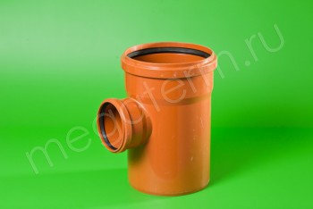 Канализация Тройник 400 -250 х 90*, Наружный рыжий - Производство и продажа полипропиленовых труб «МегаТерм»