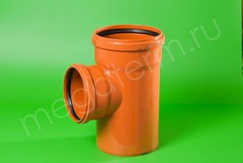 Канализация Тройник 400 -315х 90*, Наружный рыжий - Производство и продажа полипропиленовых труб «МегаТерм»