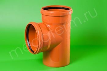 Канализация Тройник 315 -315 х 90*, Наружный рыжий - Производство и продажа полипропиленовых труб «МегаТерм»