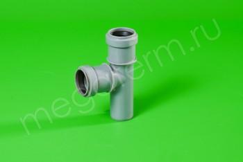 Канализация Тройник  32 - 32 х 90*, серый - Производство и продажа полипропиленовых труб «МегаТерм»