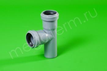 Канализация Тройник  40 - 40 х 90*, серый - Производство и продажа полипропиленовых труб «МегаТерм»