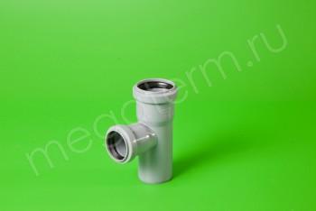 Канализация Тройник  50 - 40 х 90*, серый - Производство и продажа полипропиленовых труб «МегаТерм»