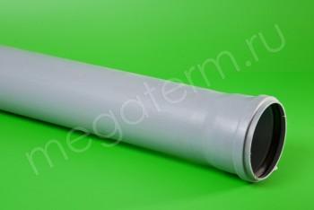 ПВХ. Труба канализационная 110/L=1000, серая - Производство и продажа полипропиленовых труб «МегаТерм»