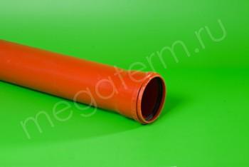 Труба канализационная 110 х3,2/L=1000, Наружная, рыжая - Производство и продажа полипропиленовых труб «МегаТерм»