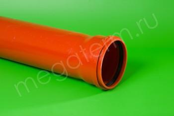 Труба канализационная 160 х4,0/L=1000, наружная, рыжая - Производство и продажа полипропиленовых труб «МегаТерм»