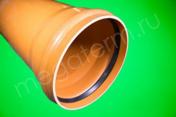 Труба канализационная 315 х7,7/L=6140, Наружная, рыжая - Производство и продажа полипропиленовых труб «МегаТерм»