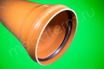 Труба канализационная 400 х9,8/L=3000, Наружная, рыжая - Производство и продажа полипропиленовых труб «МегаТерм»
