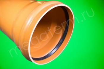 Труба канализационная 500 х12,3/L=3000, Наружная, рыжая - Производство и продажа полипропиленовых труб «МегаТерм»
