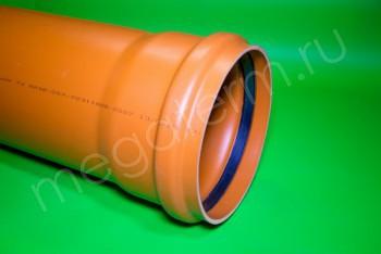 Труба канализационная 250 х6,2/L=4000, Наружная, рыжая - Производство и продажа полипропиленовых труб «МегаТерм»
